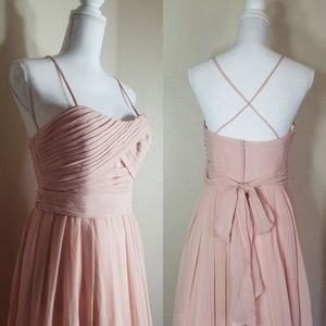 Angelina Faccenda Gown Strapless Soft Pink Prom 10